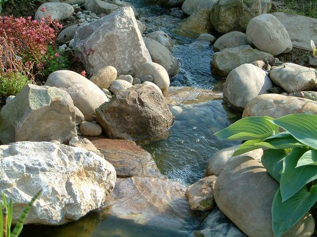 Faire une cascade en pierres au jardin forum de jardinage for Cascade d eau jardin