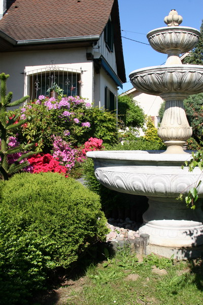 Aquamarathon alsacien bassin de jardin fontaine et rocaille - Fontaine bassin de jardin ...