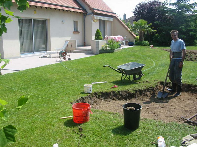 Am nagement du jardin aquatique de patrick la construction for Amenagement du jardin photo