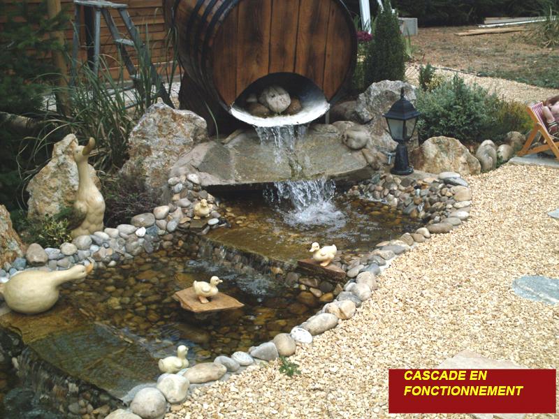 La construction du bassin de jardin de safari le tra age for Construction d un bassin de jardin avec cascade