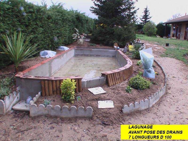 La construction du bassin de jardin de Safari - Le lagunage