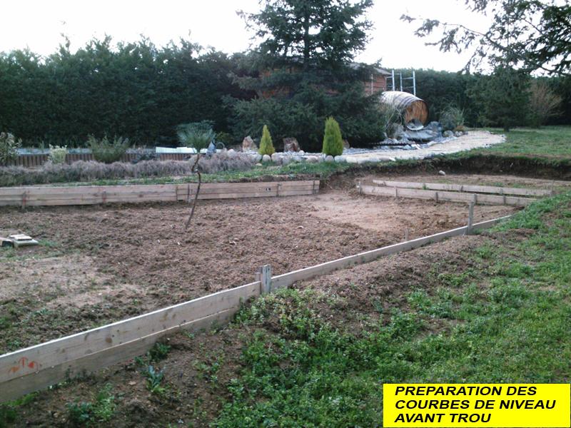 la construction du bassin de jardin de safari pr paration et implantation du bassin principal. Black Bedroom Furniture Sets. Home Design Ideas
