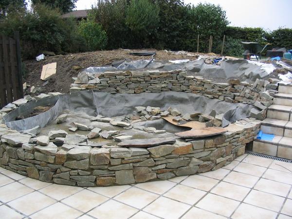 Construction d un bassin de jardin construction d un bassin constructions d - Construction bassin de jardin ...